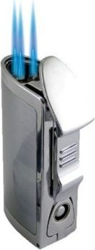 BOM Triple Jet Lighter Sølv