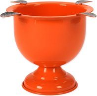 Stinky Cigar Tall 4-Stirrup Ashtray Competition Orange