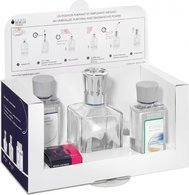 Lampe Berger Starter Set: Clear Glass Cube + 180mL Neutre + 180 mL Aire d'Océan