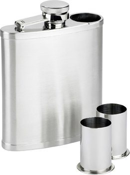 Stainless Steel Flask with 2 Shot Glasses