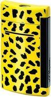 S.T. Dupont MiniJet Lighter Leopard Print Gul/Sort