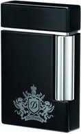 S.T. Dupont Ligne 8 Coat Of Arms Black Lacquer/Chrome