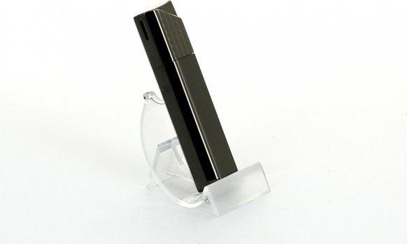 Sarome Piezo Lighter Sort Nikkel Lattice/Satin