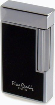 "Pierre Cardin lighter ""Brest"" polished black / chrome"