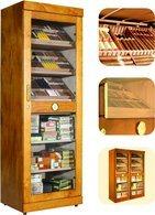 adorini Roma Elektronisk Cabinet Humidor Mahogany