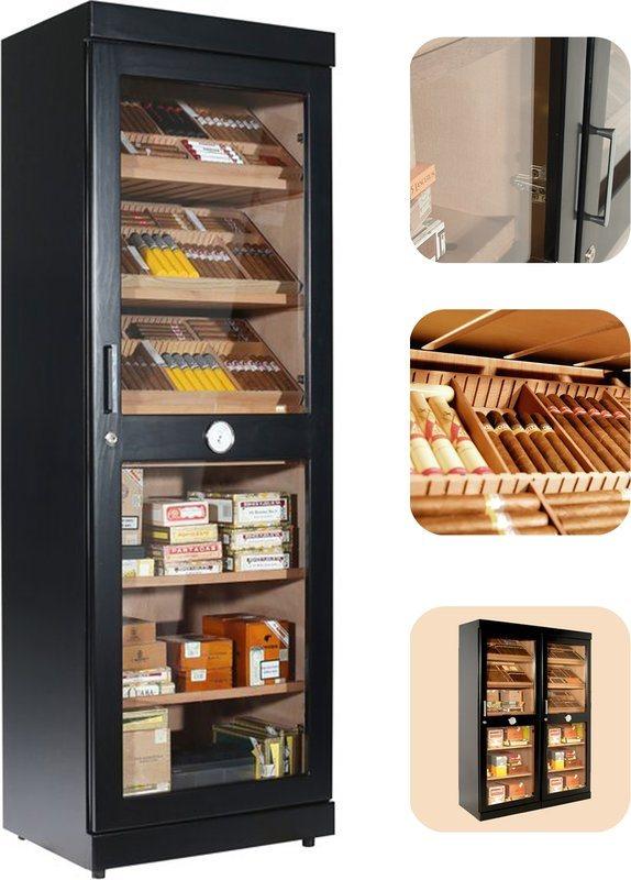 Superb Adorini Roma (black) Electronic Humidor Cabinet