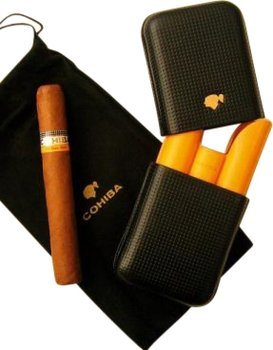 Cohiba three finger leather case