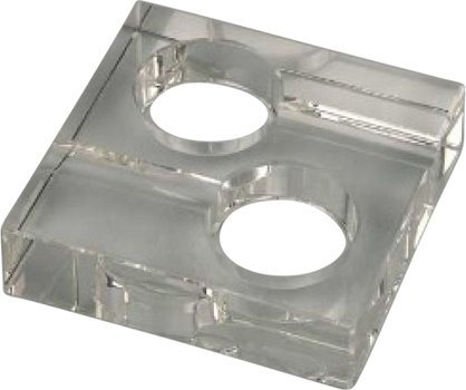 Square Glass Ashtray for 2 Cigars