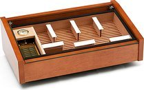 Vega (mahogany) - Deluxe glass top humidor <&&IMAGE&&> 100