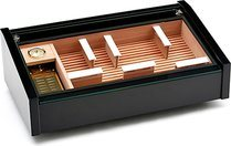Vega (black) - Deluxe display humidor <&&IMAGE&&> 100