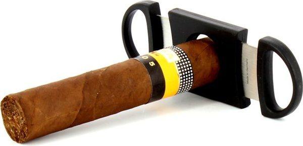 Zino Double Blade Cigar Cutter Black <&&IMAGE&&> 8