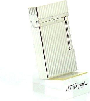 ST Dupont Ligne 2 16817 Lighter Riller Sølv
