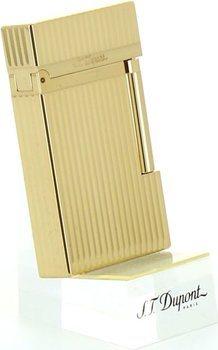 ST Dupont Ligne 2 16827 Lighter Vertikale Riller gult Gull