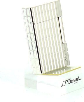 S.T. Dupont Gatsby Cut Lines Silver 18138 sytytin