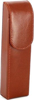 Cigar case 2 brown leather 16cm