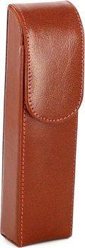 Cigar case 2 brown leather 16cm