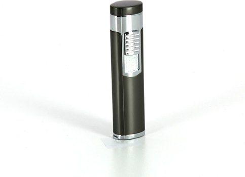 Jet Cigar Lighter with Cutter Satin Chrome