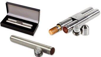 Sigarettetuier i Metall